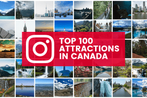 top 100 attractions in canada