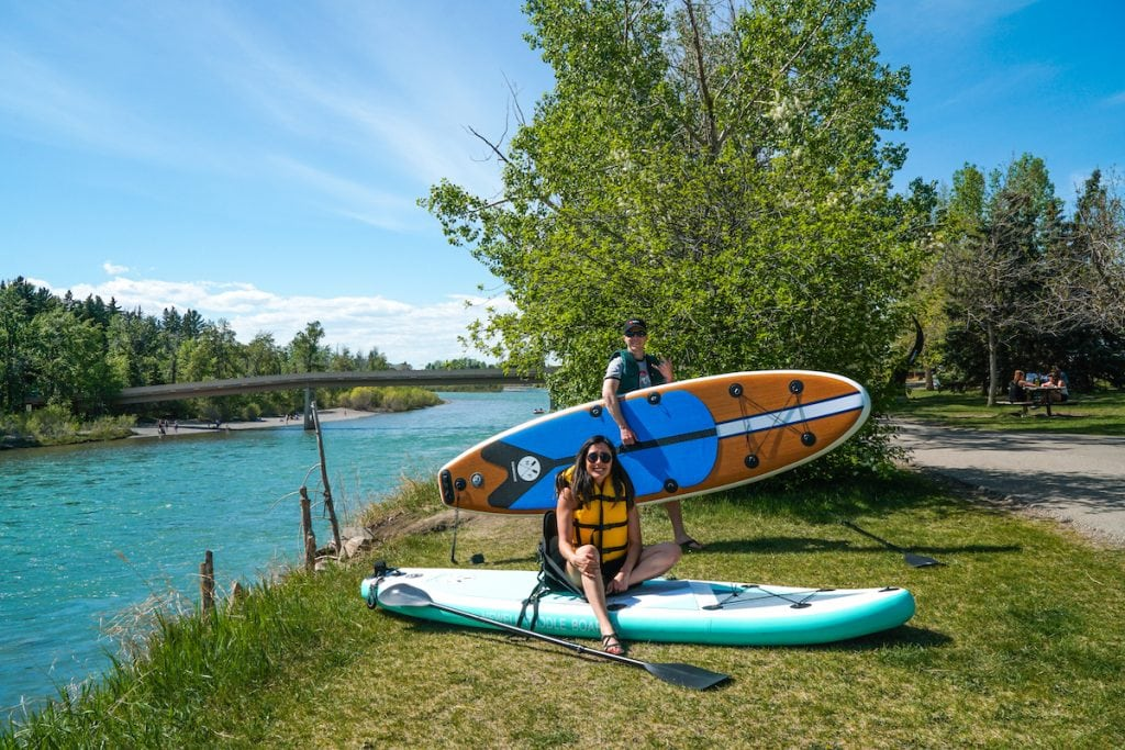 Paddleboards are one of our top travel accessories for those who love the water.