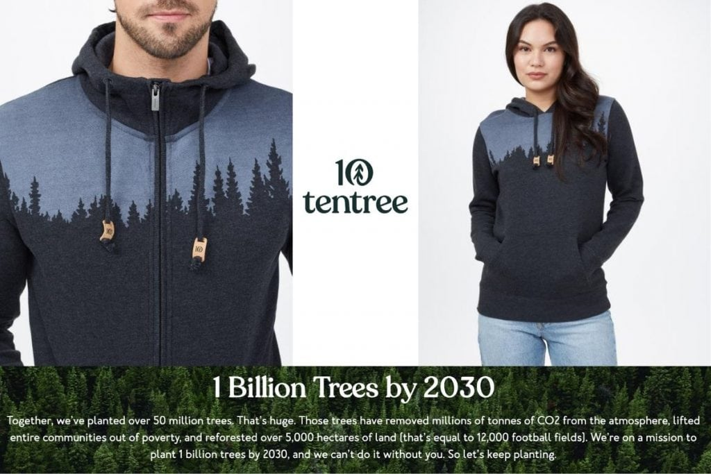 tentree clothing from canada