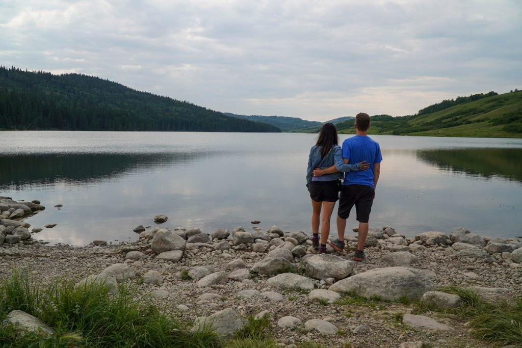 Don't miss Reesor Lake, one of the top sights to see in Cypress Hills Alberta.