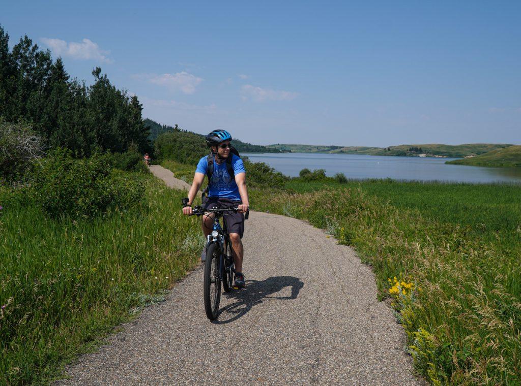 Biking in Cypress Hills Alberta