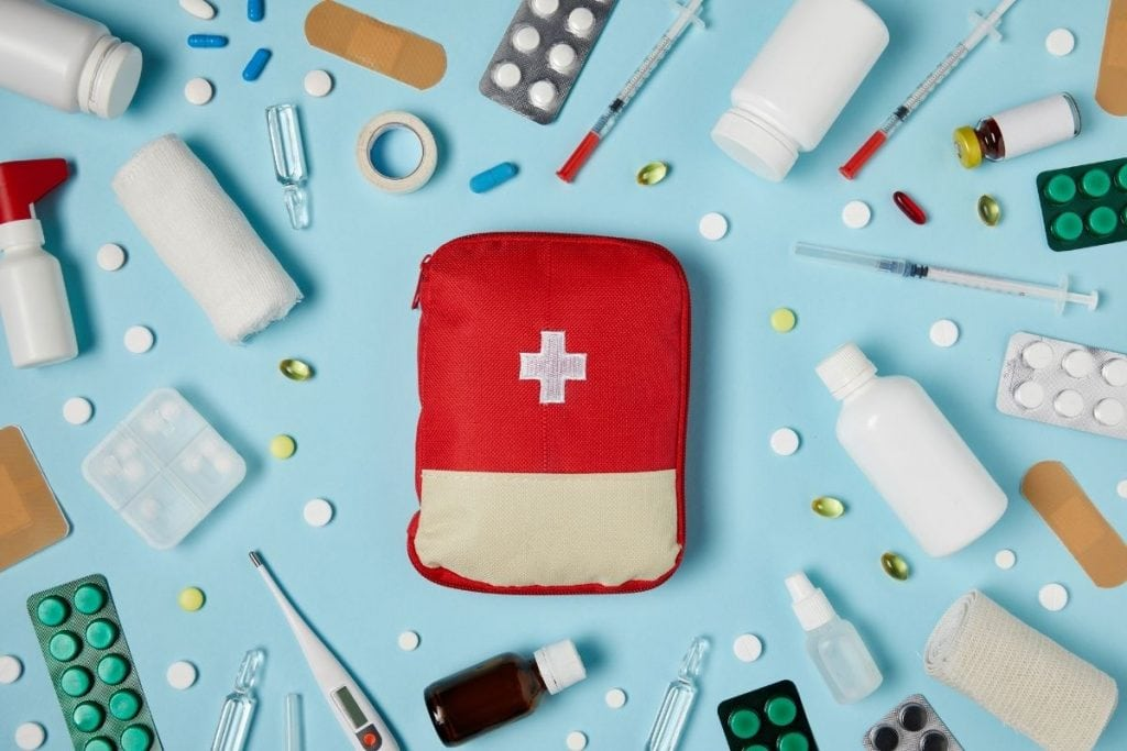 first aid kits are road trip essentials.