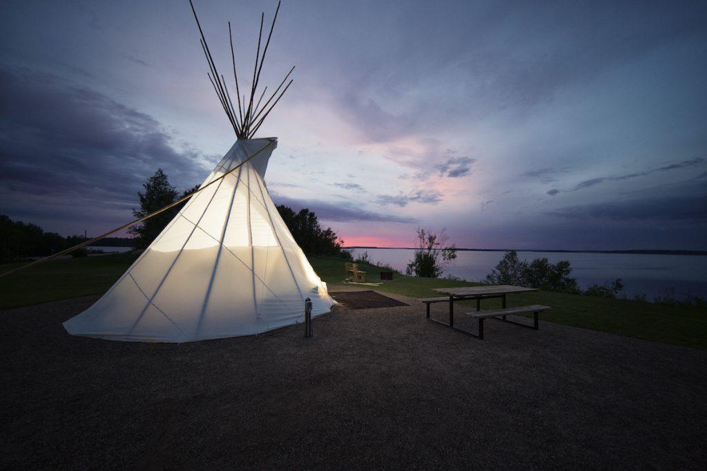 comfort campsites in Alberta.