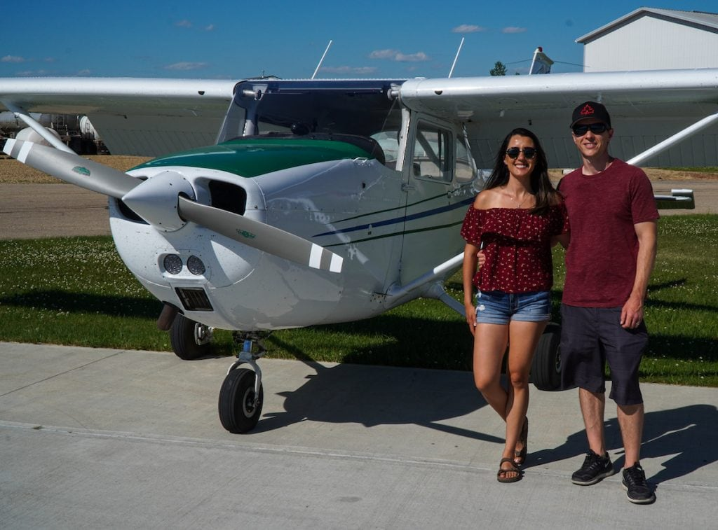 Learning how to fly in Wetaskiwin, Alberta.