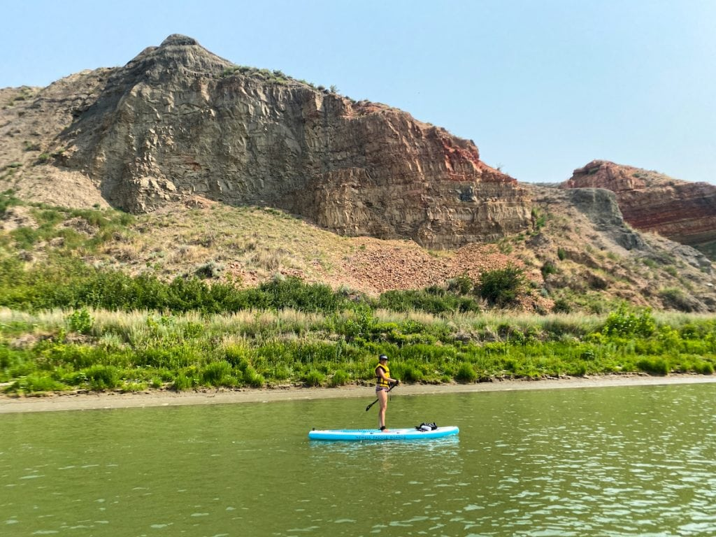 Paddle Boarding from Echo Dale Regional Park to Strathcona Island Park.