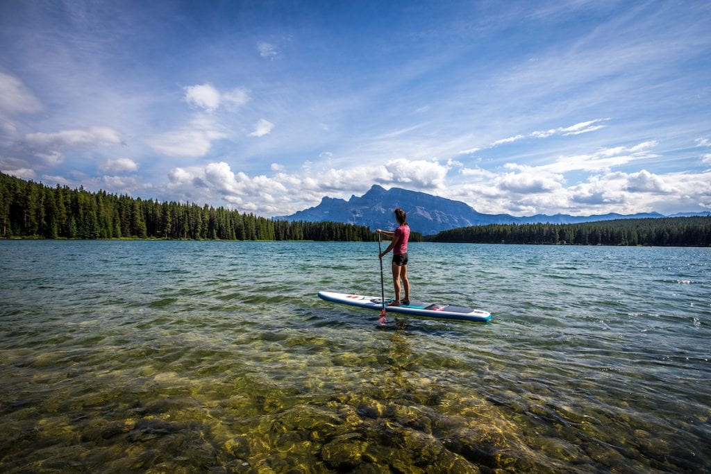 lakeside Campsites in Alberta.