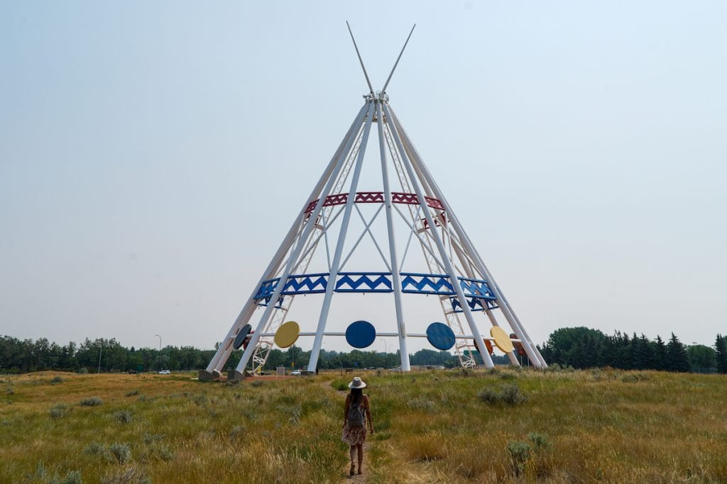 Visiting the world's tallest teepee is one of the best things to do in Medicine Hat Alberta.