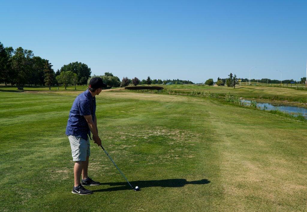 Golfing in Wetaskiwin, Alberta.