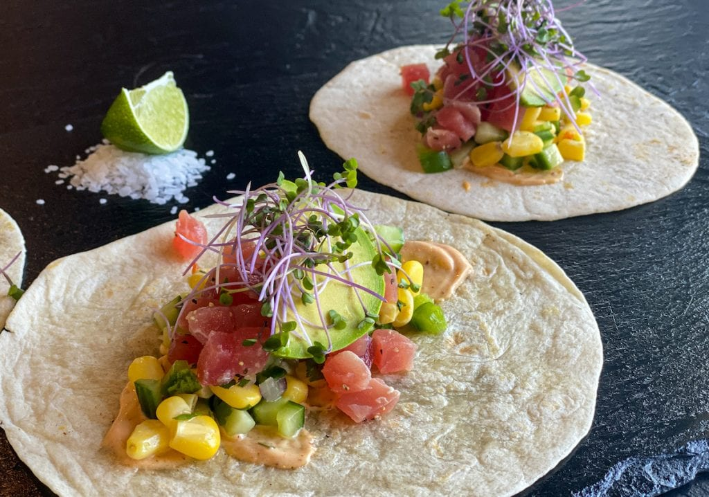 Ceviche Tacos at The Glen's Grill in Wetaskiwin, Alberta.
