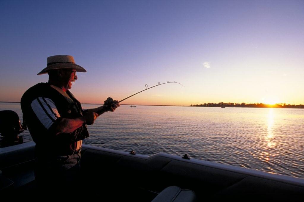 Lake fishing in Alberta.