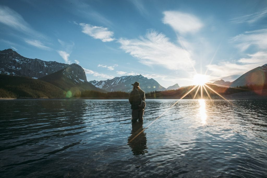 Fishing in Alberta in the Kananaskis region.