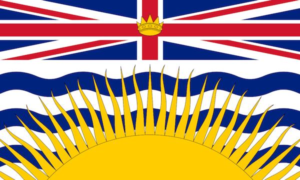 British Columbia provincial flags of canada