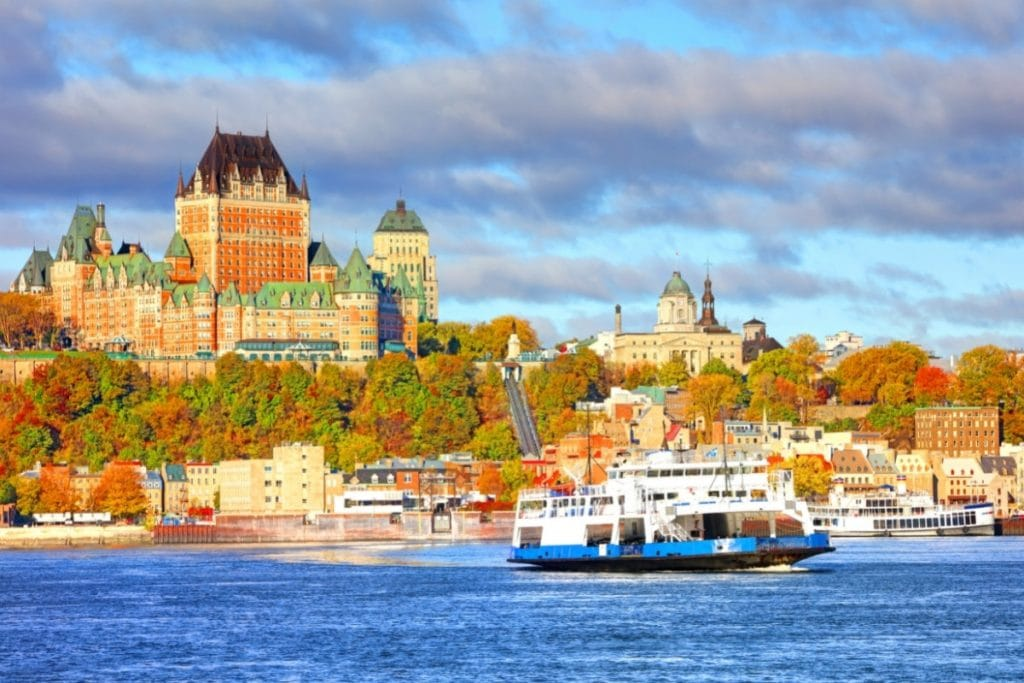 Quebec City is one of the best places to see Canada in the fall.