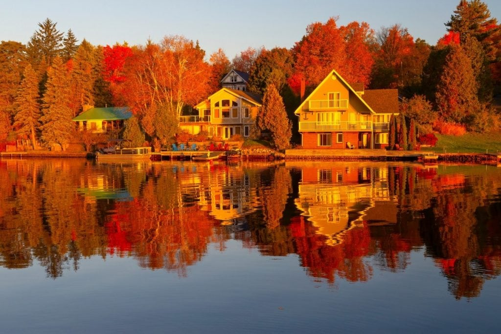 Algonquin is one of the most popular places to see the Fall in Canada.